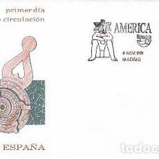 Sellos: EDIFIL 3141, AMÉRICA-UPAEP, LOS VIAJES DEL DESCUBRIMIENTO, PRIMER DIA DE 4-11-1991 SFC. Lote 194066663