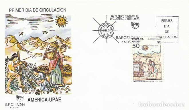 EDIFIL 3035, V CENTENARIO DEL DESCUBRIMIENTO AMERICA, USOS Y COSTUMBRES, PRIMER DIA 7-11-1989 SFC (Sellos - Temáticas - Historia)