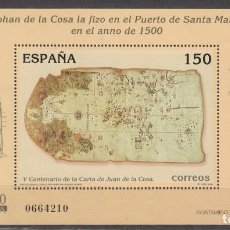 Sellos: EDIFIL 3722, V CENTENARIO DEL MAPA DE JUAN DE LA COSA, NUEVO ***. Lote 197651193