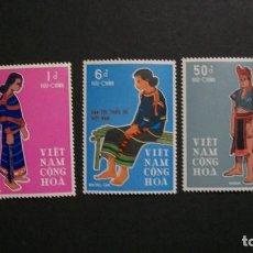 Timbres: /20-03/-VIETNAM DEL SUR-1969-Y&T 365/7 EN NUEVO(**MNH)-HISTORIA DE LAS CULTURAS-FOLCLORE. Lote 197771405