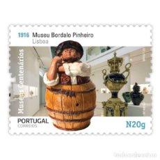 Sellos: PORTUGAL ** & MUSEOS CENTENARIOS DE PORTUGAL, GRUPO II, MUSEO BORDALO PINHEIRO, LISBOA 2020 (5750). Lote 198811087