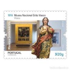 Sellos: PORTUGAL ** & MUSEOS CENTENARIOS DE PORTUGAL, GRUPO II, MUSEU GRAO VASCO, VISEU 2020 (5751) . Lote 198848378
