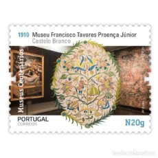 Sellos: PORTUGAL ** & MUSEOS CENTENARIOS DE PORTUGAL, MUSEO FRANCISCO JUNIOR, CASTELO BRANCO 2020 (5757). Lote 198850360