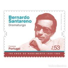 Sellos: PORTUGAL ** & HISTORIA Y LA AULTURA, 100 AÑOS DE BERNARDO SANTARENO, DRAMATURGO 2020 (5751). Lote 198853942