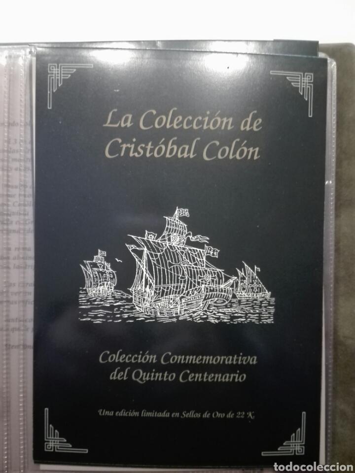 Sellos: COLECCIÓN DE SELLOS DE ORO CONMEMORATIVA DEL 5º CENTENARIO DEL DESCUBRIMIENTO DE AMÉRICA. DIAGRAM - Foto 2 - 199266646