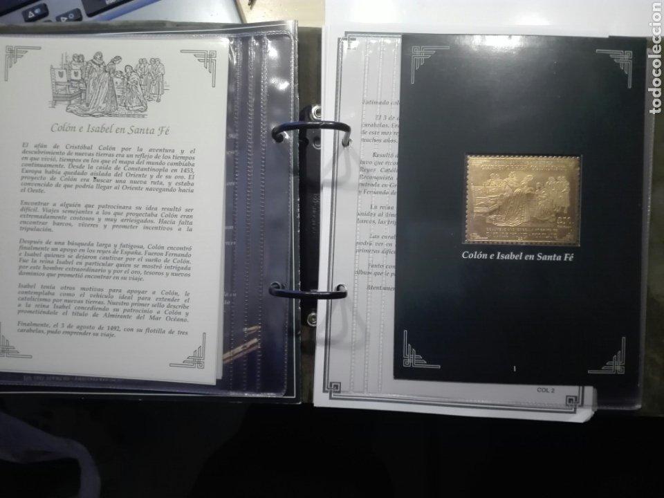Sellos: COLECCIÓN DE SELLOS DE ORO CONMEMORATIVA DEL 5º CENTENARIO DEL DESCUBRIMIENTO DE AMÉRICA. DIAGRAM - Foto 4 - 199266646