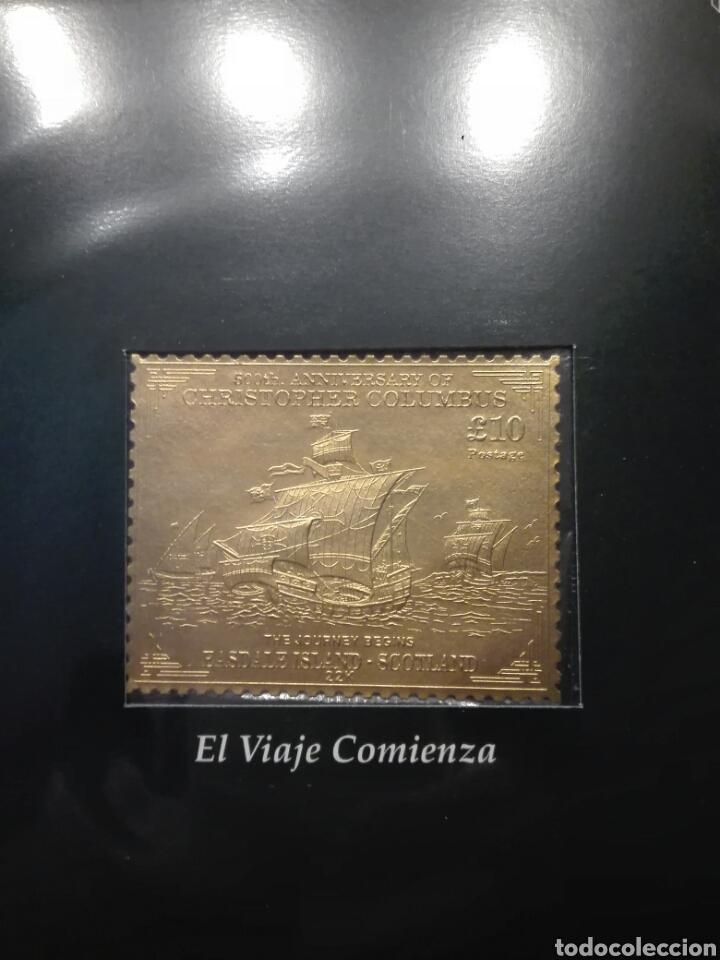 Sellos: COLECCIÓN DE SELLOS DE ORO CONMEMORATIVA DEL 5º CENTENARIO DEL DESCUBRIMIENTO DE AMÉRICA. DIAGRAM - Foto 5 - 199266646