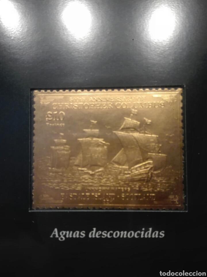 Sellos: COLECCIÓN DE SELLOS DE ORO CONMEMORATIVA DEL 5º CENTENARIO DEL DESCUBRIMIENTO DE AMÉRICA. DIAGRAM - Foto 8 - 199266646