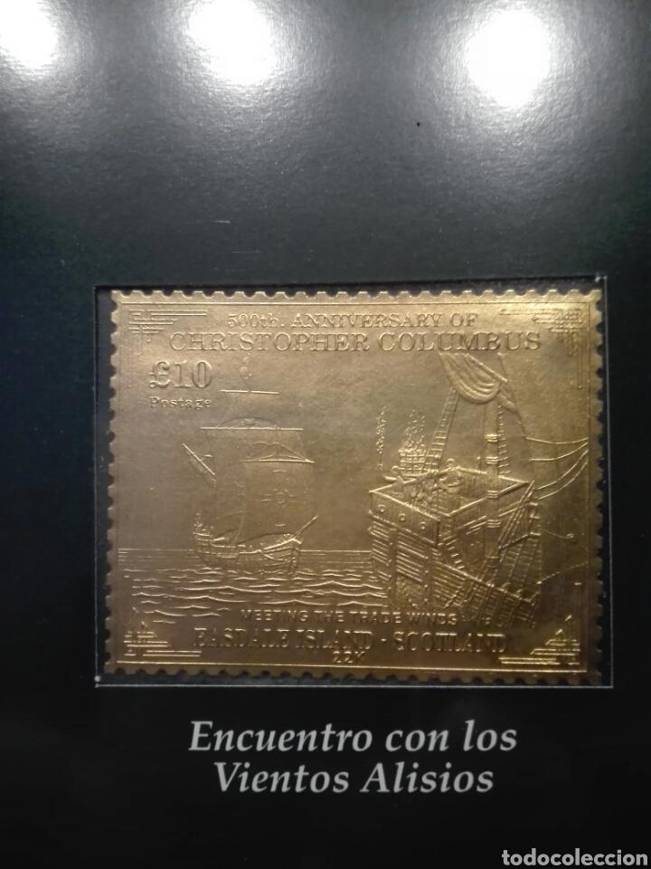 Sellos: COLECCIÓN DE SELLOS DE ORO CONMEMORATIVA DEL 5º CENTENARIO DEL DESCUBRIMIENTO DE AMÉRICA. DIAGRAM - Foto 9 - 199266646