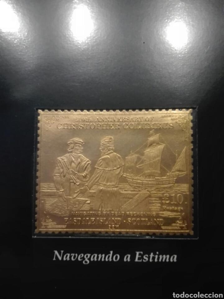 Sellos: COLECCIÓN DE SELLOS DE ORO CONMEMORATIVA DEL 5º CENTENARIO DEL DESCUBRIMIENTO DE AMÉRICA. DIAGRAM - Foto 10 - 199266646