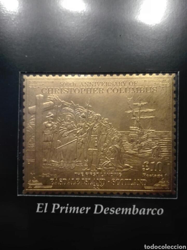 Sellos: COLECCIÓN DE SELLOS DE ORO CONMEMORATIVA DEL 5º CENTENARIO DEL DESCUBRIMIENTO DE AMÉRICA. DIAGRAM - Foto 11 - 199266646