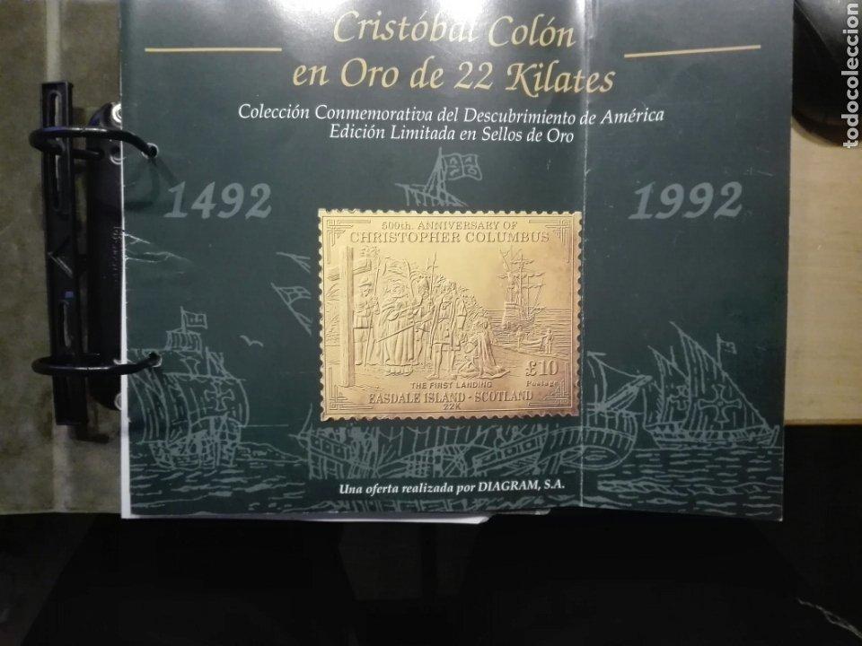 COLECCIÓN DE SELLOS DE ORO CONMEMORATIVA DEL 5º CENTENARIO DEL DESCUBRIMIENTO DE AMÉRICA. DIAGRAM (Sellos - Temáticas - Historia)