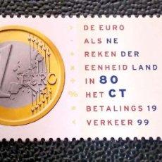 Sellos: HOLANDA. 1677 EL EURO. 1999 . SELLOS NUEVOS Y NUMERACIÓN YVERT.. Lote 199272193