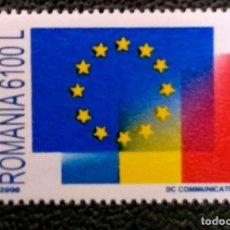 Sellos: RUMANÍA. 4586 INICIO NEGOCIACIONES PARA ENTRADA UE: ESTRELLAS EUROPEAS Y BANDERA. 2000. SELLOS NUEVO. Lote 199272298