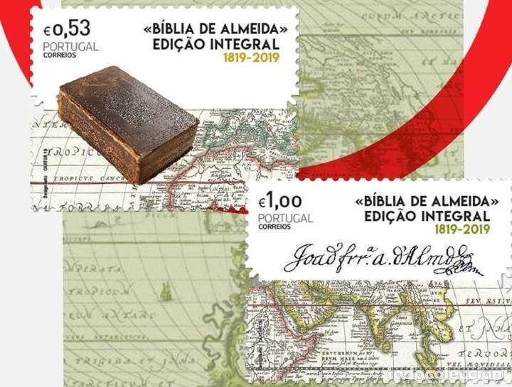 PORTUGAL ** & 200 AÑOS DE LA EDICIÓN DE LA BIBLIA DE ALMEIDA, PROTESTANTISMO 1819-2019 (8421) (Sellos - Temáticas - Historia)