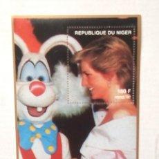 Sellos: LADY DIANA HOJA BLOQUE DE SELLOS NUEVOS DE NIGER. Lote 268864764