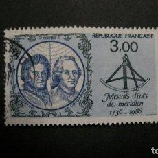 Timbres: /14.05/-FRANCIA-1986-3 F. Y&T 2428 SERIE COMPLETA EN USADO /º/-PERSONAJES. Lote 204109351