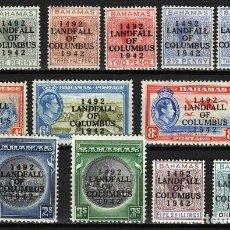 Sellos: BAHAMAS 1942 DESEMBARCO DE COLON **. Lote 204347142