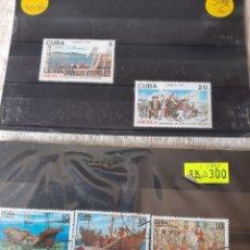 Sellos: CRISTÓBAL COLÓN CUBA SELLOS 1992. Lote 205397455