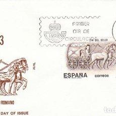 Sellos: EDIFIL 2719, DIA DEL SELLO, CARRO ROMANO, ESPAÑA 84, PRIMER DIA 8-10-1983 SOBRE DEL SFC. Lote 206380707