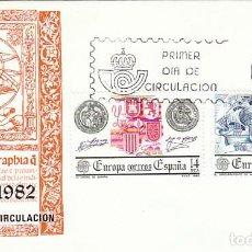 Sellos: EDIFIL 2657/8, EUROPA, EL DESCUBRIMIENTO DE AMERICA, PRIMER DIA DE 3-5-1982 SFC. Lote 206381731