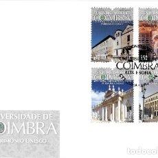 Sellos: PORTUGAL & FDC PATRIMONIO DE LA UNESCO, UNIVERSIDAD DE COIMBRA, ALTA Y SOFÍA 2014 (7800). Lote 206492092
