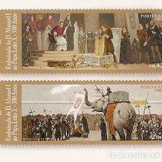 Sellos: PORTUGAL ** & PORTUGAL ** & EMBAJADA DE D. MANUEL I AL PAPA LEÓN XX - 500 AÑOS 2014 (6882). Lote 207244525