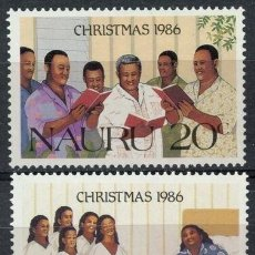 Sellos: NAURU 1986 IVERT 327/28 *** NAVIDAD - CANCIONES DE NAVIDAD. Lote 210752247