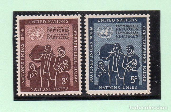 NACIONES UNIDAS NUEVA YORK 1953 IVERT 15/6 *** PROTECCIÓN DE LOS REFUGIADOS (Sellos - Temáticas - Historia)