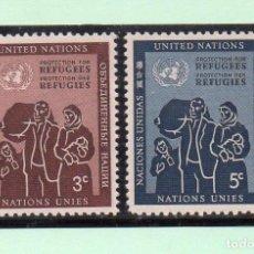 Sellos: NACIONES UNIDAS NUEVA YORK 1953 IVERT 15/6 *** PROTECCIÓN DE LOS REFUGIADOS. Lote 211675769