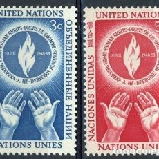 Sellos: NACIONES UNIDAS NUEVA YORK 1953 IVERT 21/2 *** DÍA DE LOS DERECHOS HUMANOS. Lote 211676143