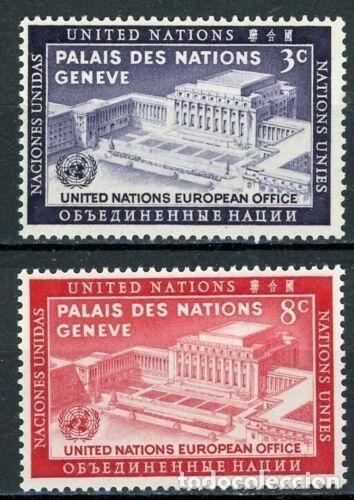 NACIONES UNIDAS NEW YORK 1954 IVERT 25/6 *** JORNADA DE NACIONES UNIDAS - PALACIO DE LAS NACIONES (Sellos - Temáticas - Historia)
