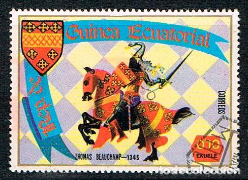 GUINEA ECUATORIAL Nº 1538, TOMÁS DE BEAUCHAMP, XI CONDE DE WARWICK (SIGLO XIV), USADO (Sellos - Temáticas - Historia)