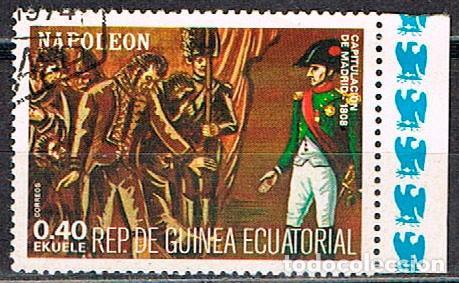 GUINEA ECUATORIAL 1408, NAPOLEON, GUERRA DE LA INDEPENDENCIA EN ESPAÑA, USADO (Sellos - Temáticas - Historia)