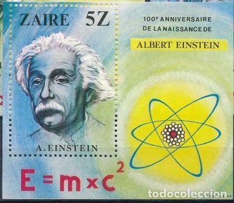 ZAIRE 1980 HB IVERT 18 *** CENTENARIO DEL NACIMIENTO DE ALBERT EINSTEIN - CIENCIA (Sellos - Temáticas - Historia)