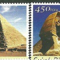 Sellos: GUINEA BISSAU 2003 IVERT 1102/5 *** MONUMENTOS DE EGIPTO (I) - PIRÁMIDES. Lote 215463230