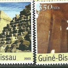 Sellos: GUINEA BISSAU 2003 IVERT 1106/9 *** MONUMENTOS DE EGIPTO (II) - PIRÁMIDES. Lote 215463363