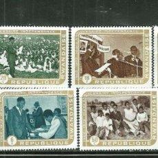 Sellos: RWANDA 1972 IVERT 477/84 *** 10º ANIVERSARIO DE LA INDEPENDENCIA. Lote 215517475