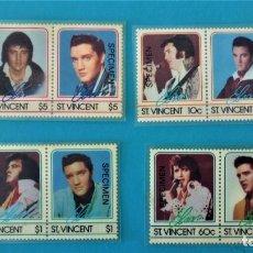 Sellos: SAN VICENTE AÑO 1985 - HOMENAJE A ELVIS PRESLEY (VER DESCRIPCIÓN). Lote 216549741