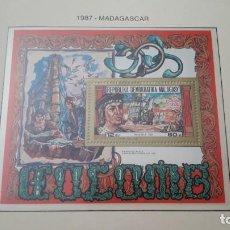 Timbres: MADAGASCAR. QUINTO CENTENARIO 1987- A. EN HOJA FILABO. SIN CIRCULAR. DANI. Lote 218478703