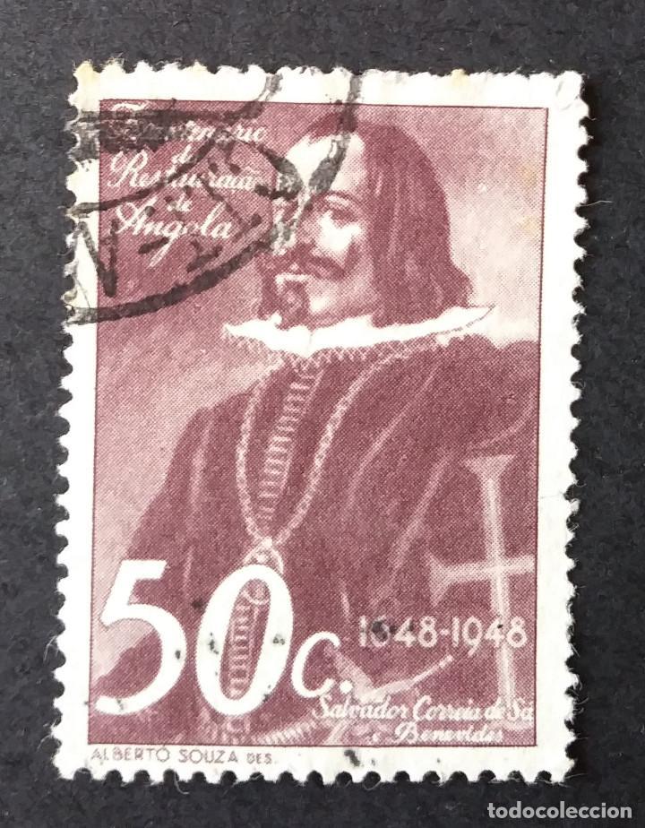 1948 ANGOLA III CENTENARIO DEVOLUCIÓN DE ANGOLA A PORTUGAL (Sellos - Temáticas - Historia)