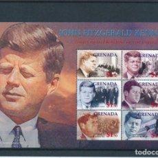 Sellos: GRANADA 2002 IVERT 4326/31 *** JOHN F. KENNEDY 35 PRESIDENTE DE LOS ESTADOS UNIDOS - HISTORIA. Lote 222327308