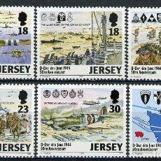 Sellos: JERSEY 1994 IVERT 653/8 *** 50º ANIVERSARIO DEL DESEMBARCO DE NORMANDÍA EN LA 2ª GUERRA MUNDIAL. Lote 222328768