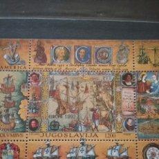 Sellos: HB DE YUGOSLAVIA NUEVA/1992/DESCUBRIMIENTO/VELEROS/BARCO/TRANSPORTE/COLON/MAPA/EUROPA/CEPT/AMERICA. Lote 222546488