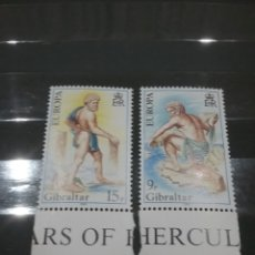 Sellos: SELLO DE GIBRALTAR NUEVOS/1981/EUROPA/CEPT/MITOLOGIA/HERCULES/LEYENDAS/HISTORIAS/COLUMNAS/PILARES/FO. Lote 222706495