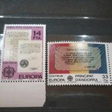 Sellos: SELLOS PRINCIPADO ANDORRA (ESPAÑOLA) NUEVOS/1981/ACONTECIMIENTOS/TEXTOS/EUROPA/CEPT/BANDERA/REFORMAS. Lote 222879148