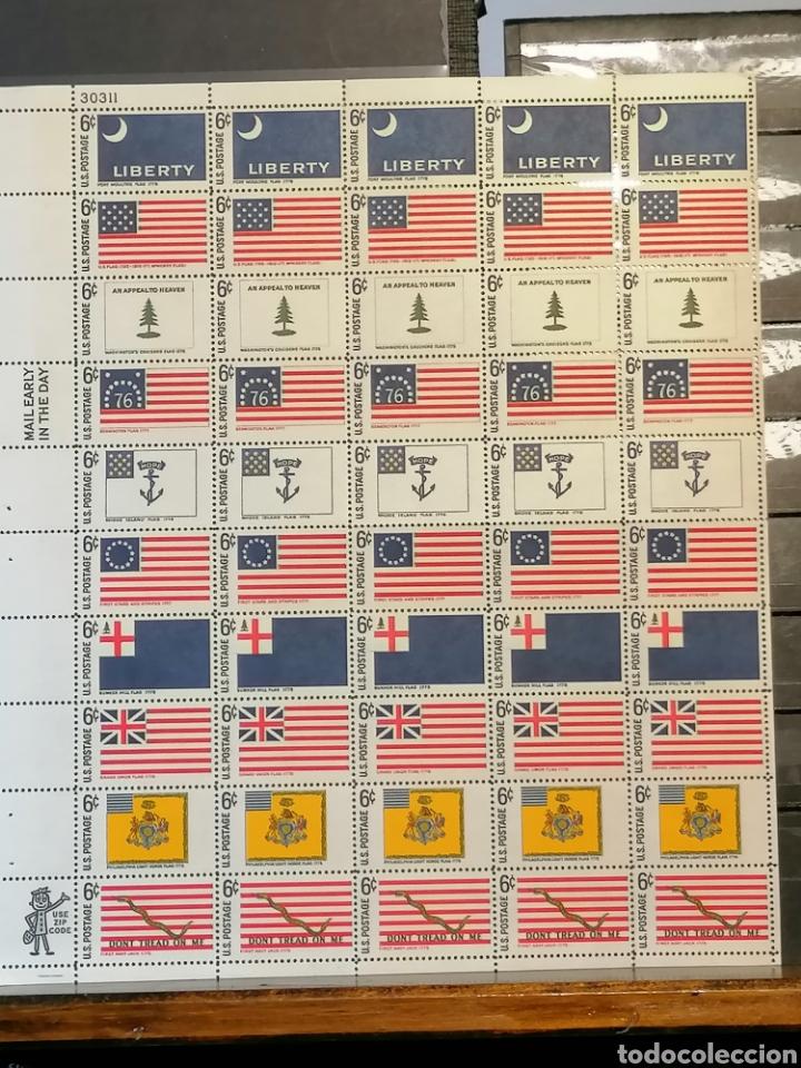 Sellos: Banderas Estados Unidos Yvert 848/57 pliego de 5 series Estados históricos nuevo *** - Foto 2 - 222962633