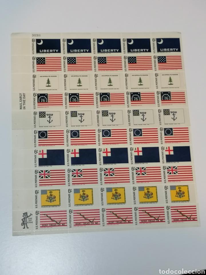 Sellos: Banderas Estados Unidos Yvert 848/57 pliego de 5 series Estados históricos nuevo *** - Foto 3 - 222962633