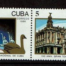 Sellos: CUBA 1988 BALLET NACIONAL DE CUBA. Lote 223648450