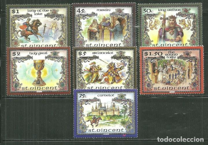SAN VICENTE 1986 IVERT 961/8 *** LA LEYENDA DEL REY ARTURO - HISTORIA (Sellos - Temáticas - Historia)
